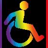 Les activités accessibles proposées par les Bascos, Arcolan et Nos Couleurs sont indiquées par ce pictogramme
